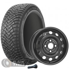 Колесо в сборе R15: Шина Dunlop SP Winter Ice 03 + Диск KFZ (комплект №1187) в Москве