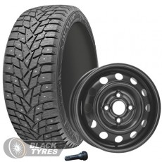 Колесо в сборе R15: Шина Dunlop SP Winter Ice02 + Диск KFZ (комплект №1188) в Москве