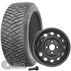 Колесо в сборе R15: Шина Goodyear UltraGrip Ice Arctic + Диск KFZ (комплект №1193) в Москве