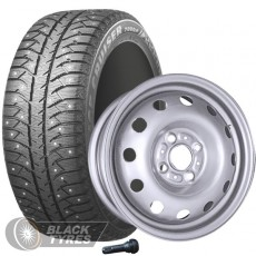 Колесо в сборе R14: Шина Bridgestone Ice Cruiser 7000S + Диск Magnetto (комплект №2022) в Москве
