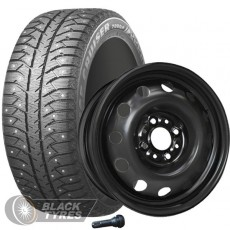 Колесо в сборе R14: Шина Bridgestone Ice Cruiser 7000S + Диск Magnetto (комплект №2021) в Москве