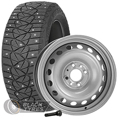 Колесо в сборе R14: Шина Goodyear Ultra Grip 600 + Диск EuroDisk (комплект №332) в Москве