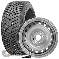 Колесо в сборе R14: Шина Goodyear UltraGrip Ice Arctic + Диск EuroDisk (комплект №333) в Москве