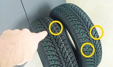 Цветные полоски на шине